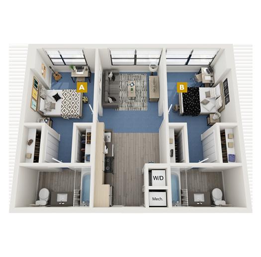 The Brickell Floorplan Image