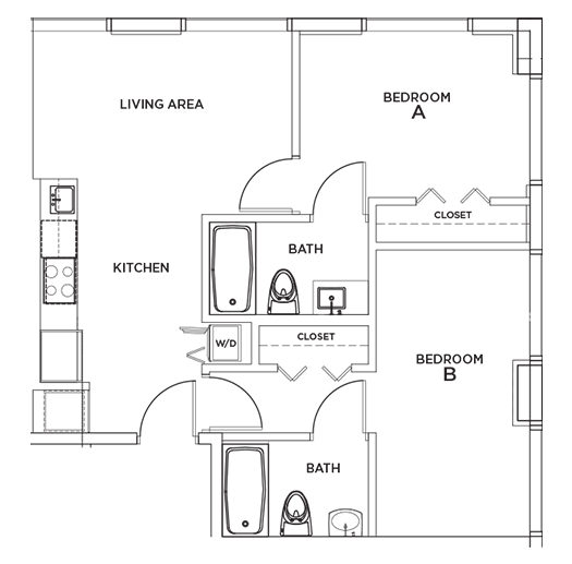 Biscayne - 1 Floorplan Image